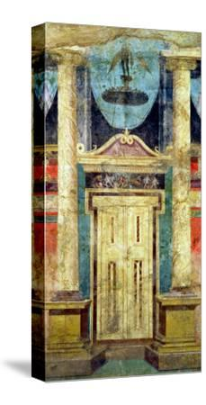 Wall Decoration from the Villa of P Fannius at Boscoreale, Near Pompeii--Stretched Canvas Print
