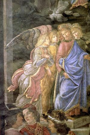 The Purification of the Leper and the Temptation of Christ-Sandro Botticelli-Stretched Canvas Print