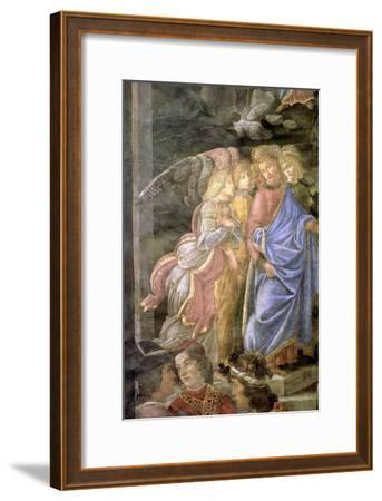 The Purification of the Leper and the Temptation of Christ-Sandro Botticelli-Framed Giclee Print