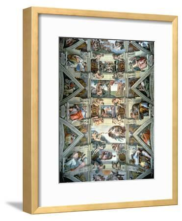 Sistine Chapel Ceiling and Lunettes, 1508-12-Michelangelo Buonarroti-Framed Giclee Print