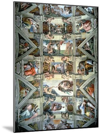 Sistine Chapel Ceiling and Lunettes, 1508-12-Michelangelo Buonarroti-Mounted Giclee Print