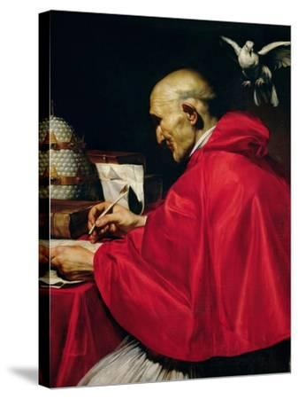 Pope Gregory the Great-Carlo Saraceni-Stretched Canvas Print
