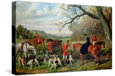 The Meet, 1881-Edward Benjamin Herberte-Stretched Canvas Print