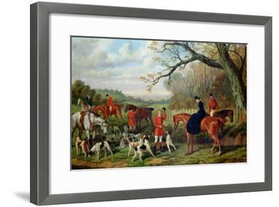 The Meet, 1881-Edward Benjamin Herberte-Framed Giclee Print