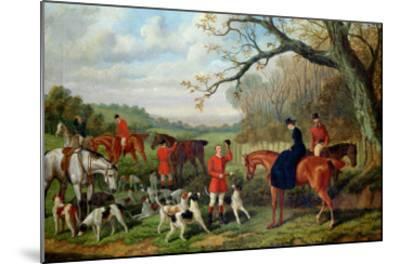 The Meet, 1881-Edward Benjamin Herberte-Mounted Giclee Print