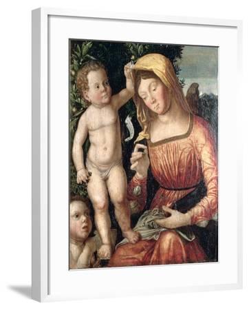 Madonna Sewing-Giovanni Francesco Caroto-Framed Giclee Print