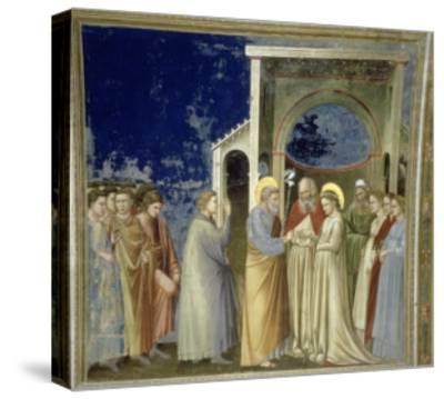 The Marriage of the Virgin, circa 1305-Giotto di Bondone-Stretched Canvas Print