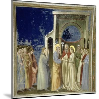 The Marriage of the Virgin, circa 1305-Giotto di Bondone-Mounted Giclee Print