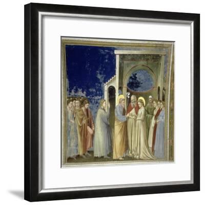 The Marriage of the Virgin, circa 1305-Giotto di Bondone-Framed Giclee Print