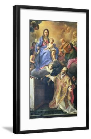 The Virgin Mary Appearing to St. Philip Neri-Carlo Maratti-Framed Giclee Print