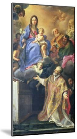 The Virgin Mary Appearing to St. Philip Neri-Carlo Maratti-Mounted Giclee Print