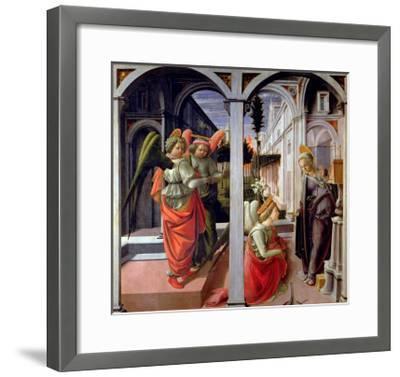 Annunciation, circa 1445-Fra Filippo Lippi-Framed Giclee Print