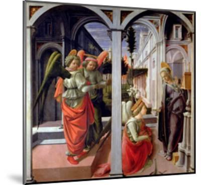 Annunciation, circa 1445-Fra Filippo Lippi-Mounted Giclee Print