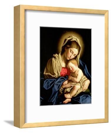 Madonna and Child-Giovanni Battista Salvi da Sassoferrato-Framed Premium Giclee Print