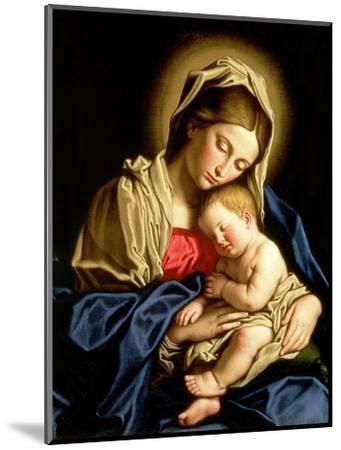 Madonna and Child-Giovanni Battista Salvi da Sassoferrato-Mounted Premium Giclee Print