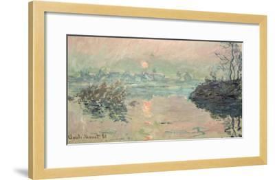 Sunset, 1880-Claude Monet-Framed Giclee Print