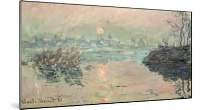 Sunset, 1880-Claude Monet-Mounted Giclee Print