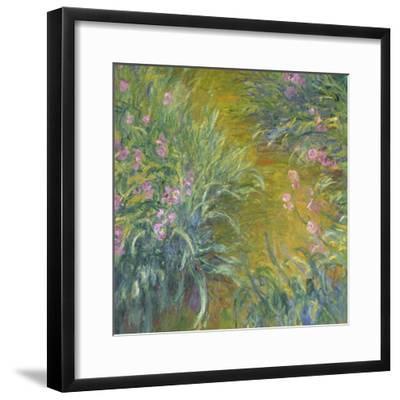 Iris-Claude Monet-Framed Giclee Print