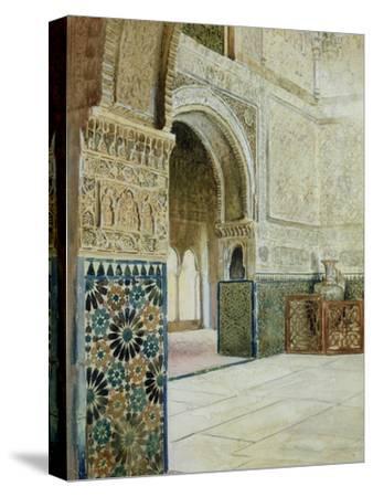 Interior of the Alhambra, Granada--Stretched Canvas Print