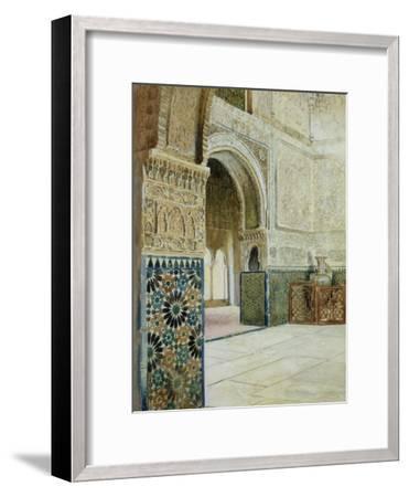 Interior of the Alhambra, Granada--Framed Giclee Print