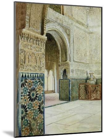 Interior of the Alhambra, Granada--Mounted Giclee Print