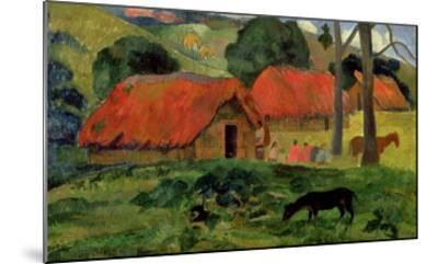 Landscape with a Dog in Front of a Shed, 1892-Paul Gauguin-Mounted Giclee Print