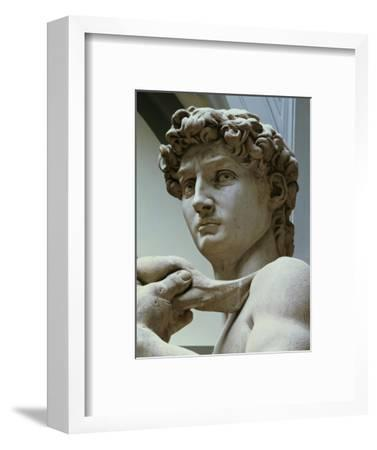David, Detail of the Head, 1504-Michelangelo Buonarroti-Framed Premium Giclee Print