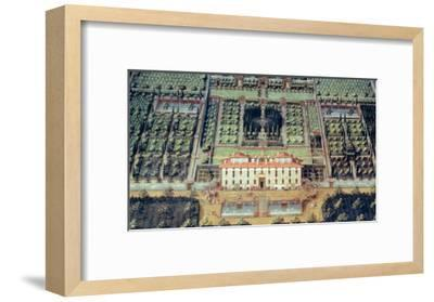 Villa Di Castello from a Series of Lunettes Depicting Views of the Medici Villas, 1599-Giusto Utens-Framed Giclee Print
