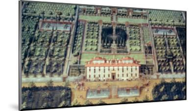 Villa Di Castello from a Series of Lunettes Depicting Views of the Medici Villas, 1599-Giusto Utens-Mounted Giclee Print