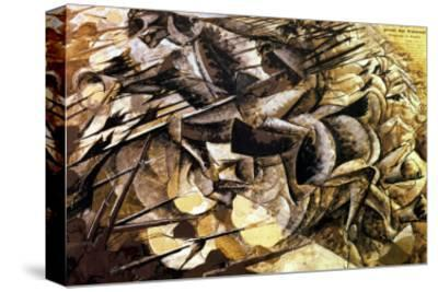 The Charge of the Lancers, 1915-Umberto Boccioni-Stretched Canvas Print