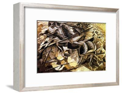 The Charge of the Lancers, 1915-Umberto Boccioni-Framed Giclee Print