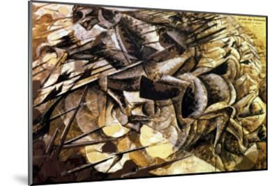 The Charge of the Lancers, 1915-Umberto Boccioni-Mounted Giclee Print