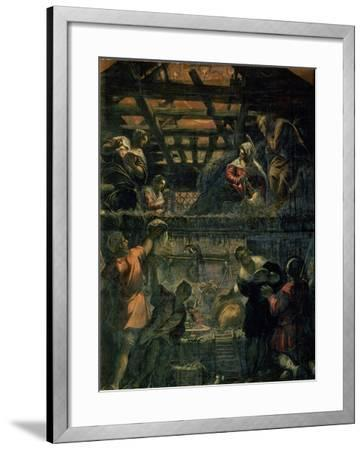 The Adoration of the Shepherds, 1578-81-Jacopo Robusti Tintoretto-Framed Giclee Print