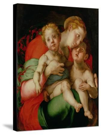 Madonna and Child with the Infant St. John the Baptist-Jacopo da Carucci Pontormo-Stretched Canvas Print