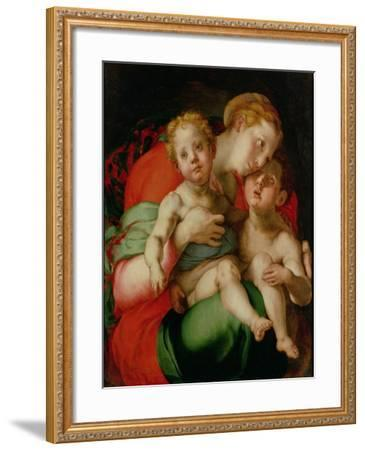 Madonna and Child with the Infant St. John the Baptist-Jacopo da Carucci Pontormo-Framed Giclee Print