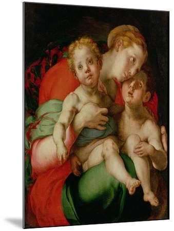 Madonna and Child with the Infant St. John the Baptist-Jacopo da Carucci Pontormo-Mounted Giclee Print
