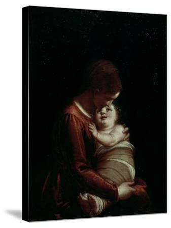 Madonna and Child, circa 1570-Luca Cambiaso-Stretched Canvas Print