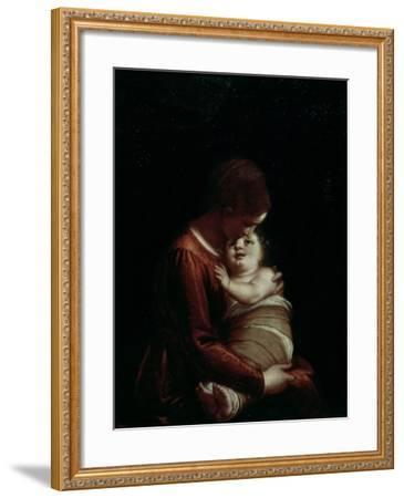 Madonna and Child, circa 1570-Luca Cambiaso-Framed Giclee Print