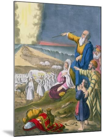 Moses Parting the Red Sea, from a Bible Printed by Edward Gover, 1870s-Siegfried Detler Bendixen-Mounted Giclee Print