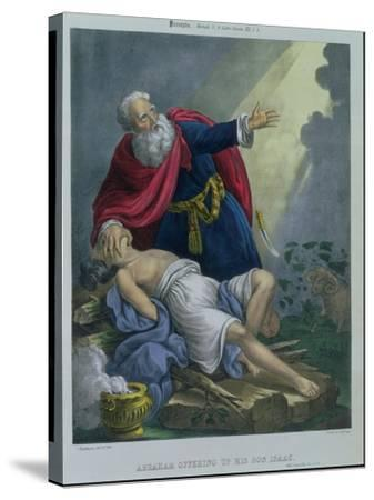Abraham Offering up His Son Isaac, from a Bible Printed by Edward Gover, 1870s-Siegfried Detler Bendixen-Stretched Canvas Print