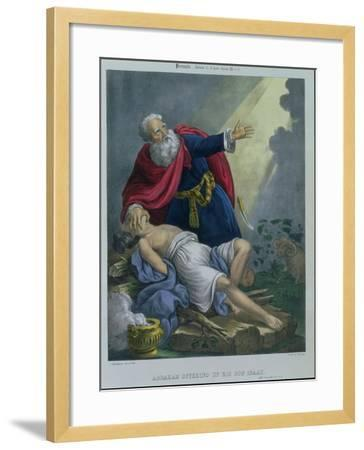 Abraham Offering up His Son Isaac, from a Bible Printed by Edward Gover, 1870s-Siegfried Detler Bendixen-Framed Giclee Print