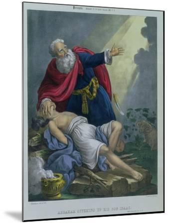 Abraham Offering up His Son Isaac, from a Bible Printed by Edward Gover, 1870s-Siegfried Detler Bendixen-Mounted Giclee Print