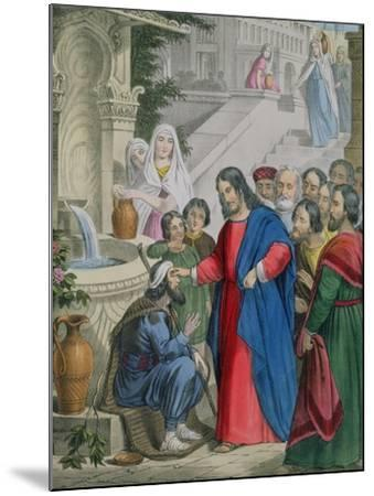 Jesus Gives Sight to One Born Blind, from a Bible Printed by Edward Gover, 1870s-Siegfried Detler Bendixen-Mounted Giclee Print