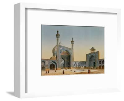 "View of the Courtyard of the Mesdjid-I-Shah, Isfahan, from ""Modern Monuments of Persia""-Pascal Xavier Coste-Framed Premium Giclee Print"