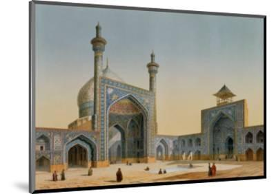 "View of the Courtyard of the Mesdjid-I-Shah, Isfahan, from ""Modern Monuments of Persia""-Pascal Xavier Coste-Mounted Premium Giclee Print"