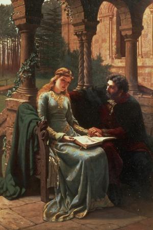 Abelard and His Pupil Heloise, 1882-Edmund Blair Leighton-Stretched Canvas Print