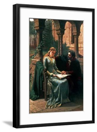 Abelard and His Pupil Heloise, 1882-Edmund Blair Leighton-Framed Giclee Print
