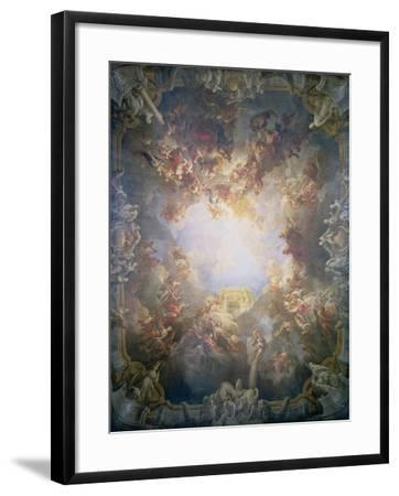 The Apotheosis of Hercules, from the Ceiling of the Salon of Hercules, 1733-6-Francois Lemoyne-Framed Giclee Print