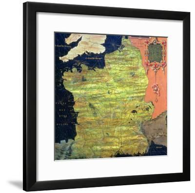 """Map of Sixteenth Century France, from the """"Sala Delle Carte Geografiche""""-Stefano And Danti Bonsignori-Framed Giclee Print"""