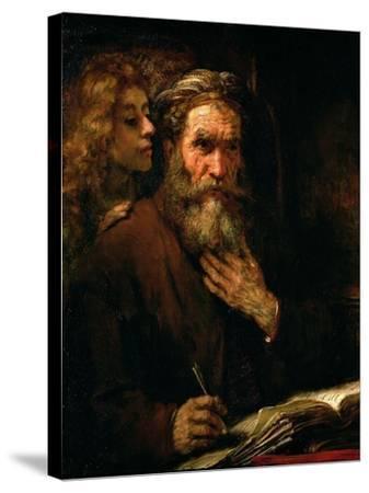 St. Matthew and the Angel, 1655-60-Rembrandt van Rijn-Stretched Canvas Print